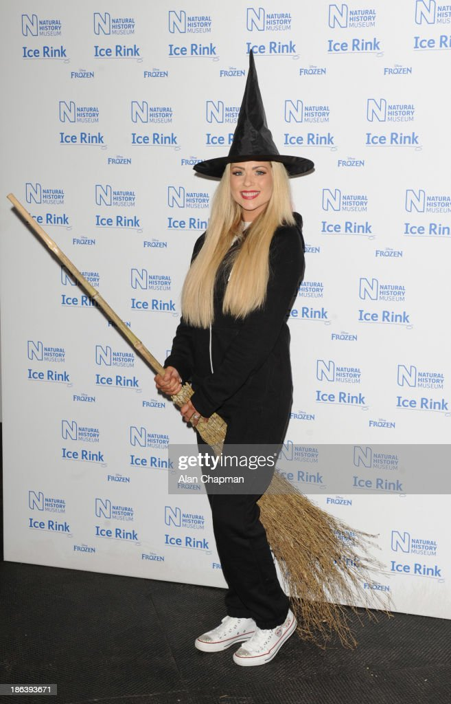 Nicola McClean attends the launch event of the Natural History Museum's ice rink at Natural History Museum on October 30, 2013 in London, England.