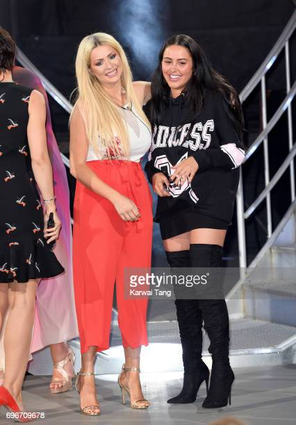 Nicola McLean and Marnie Simpson leave the Big Brother house at Elstree Studios on June 16 2017 in Borehamwood England