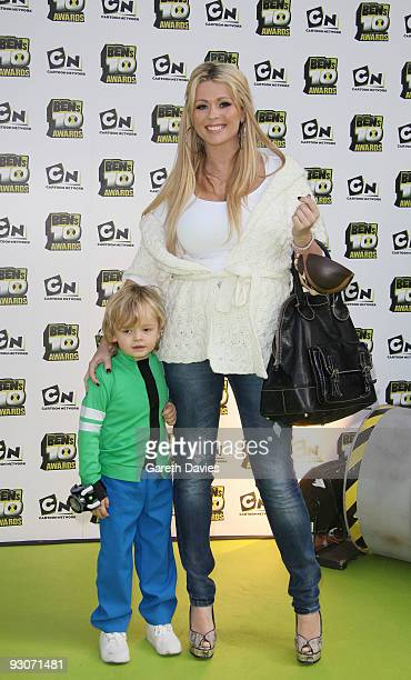 Nicola McLean and son at the Ben's 10 Awards at the Unicorn Theatre on November 15 2009 in London England The awards announce 10 winners to join a...