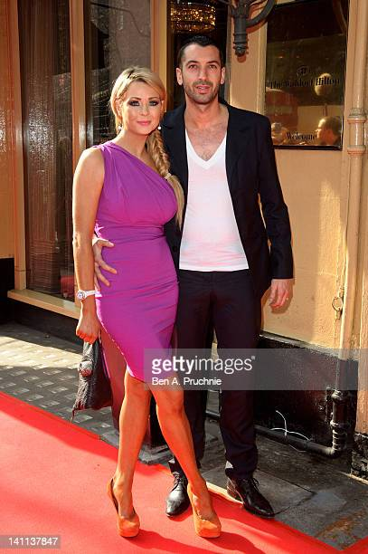 Nicola McLean and Tom Williams attends the Tesco Magazine Mum Of The Year 2012 at The Waldorf Hilton Hotel on March 11 2012 in London England