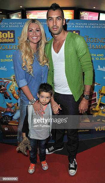 Nicola Mclean and Tommy Williams attend the UK film premiere of 'Bob The Builder The Legend Of The Golden Hammer' at Vue Leicester Square on May 15...