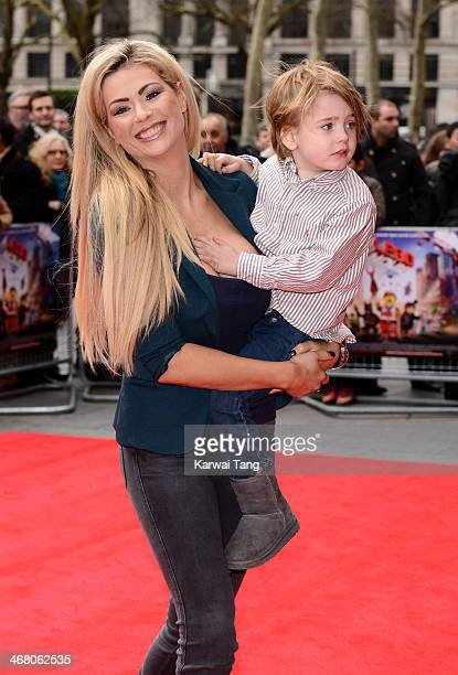 Nicola McLean attends a VIP screening of 'The Lego Movie' at Vue West End on February 9 2014 in London England