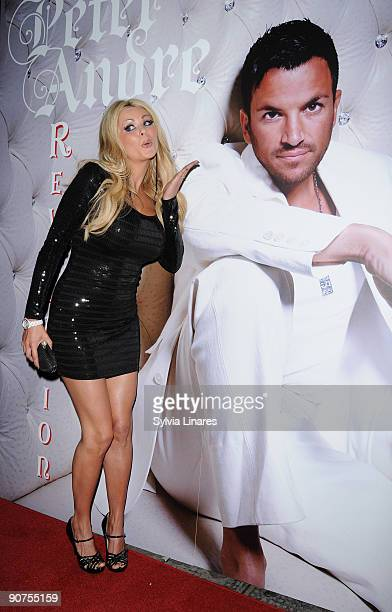 Nicola McLean attends Peter Andre's album launch party September 14 2009 in London England