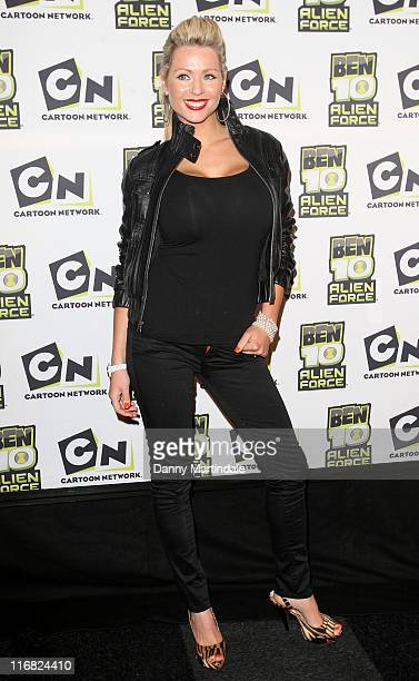 Nicola McLean attends the 'Ben 10 Alien Force' VIP Premiere at Old Billingsgate Market on February 15 2009 in London England