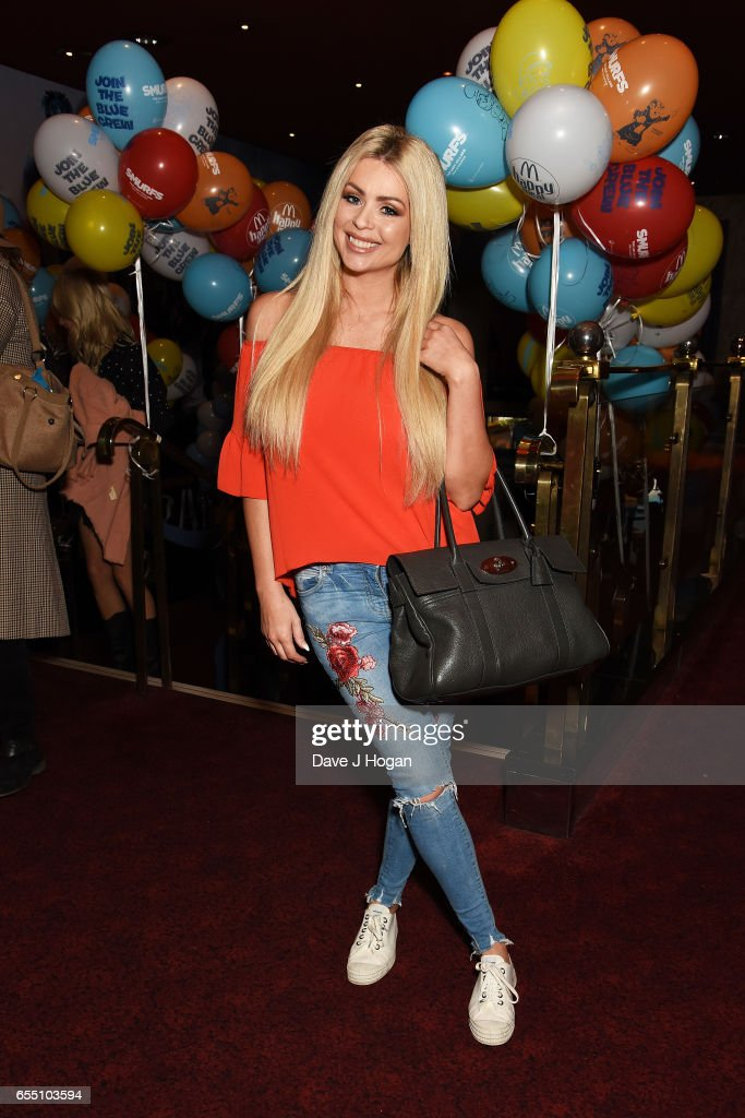 Nicola McLean attends the Gala Screening of 'Smurfs: The Lost Village' at Cineworld Leicester Square on March 19, 2017 in London, England.