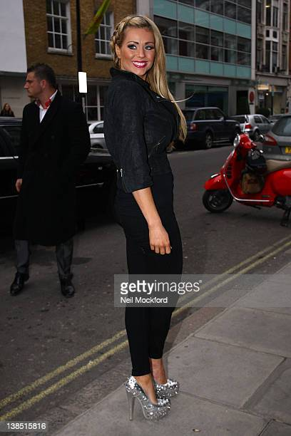 Nicola McLean attends the launch of Kandee Shoes at Sanderson Hotel on February 8 2012 in London England
