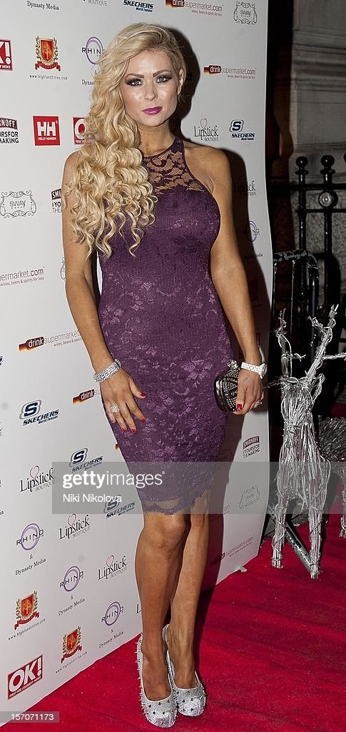Nicola McLean attends the OK! Magazine Christmas Party on November 27, 2012 in London, England.