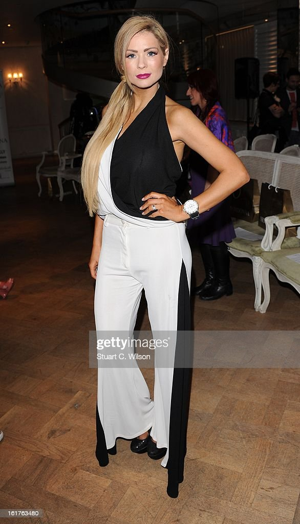 <a gi-track='captionPersonalityLinkClicked' href=/galleries/search?phrase=Nicola+McLean&family=editorial&specificpeople=504969 ng-click='$event.stopPropagation()'>Nicola McLean</a> Designs at the Nico Didonna presentation during London Fashion Week Fall/Winter 2013/14 at Baku Restaurant on February 15, 2013 in London, England.