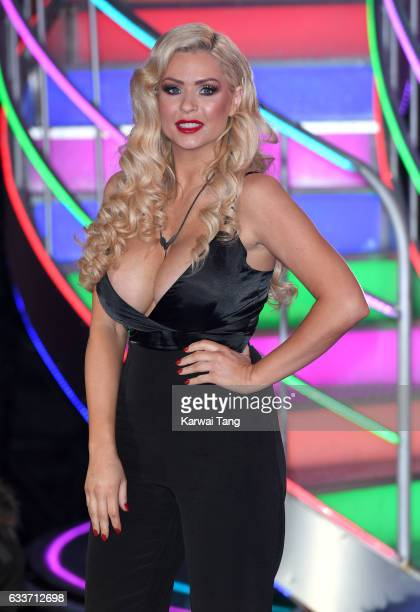 Nicola McLean is evicted from the Celebrity Big Brother house on February 3 2017 in Borehamwood United Kingdom