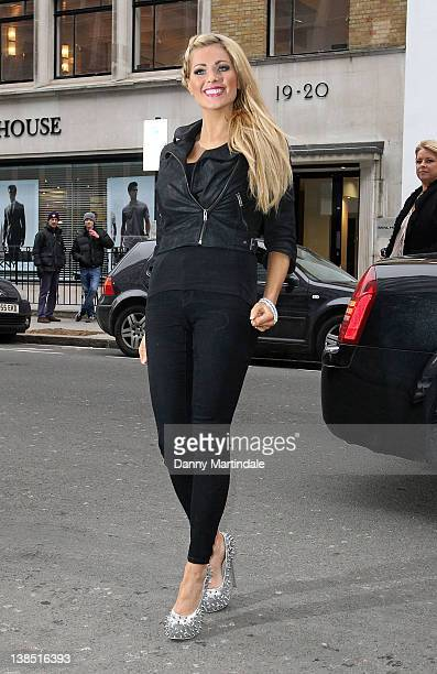 Nicola McLean is seen attending the Kandee Shoes 2012 collection launch at the Sanderson Hotel on February 8 2012 in London England