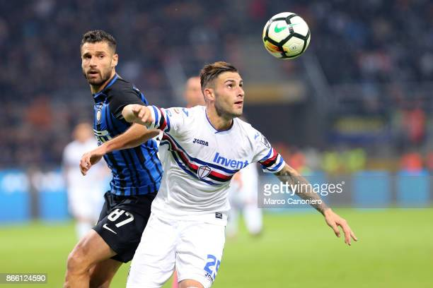 Nicola Murru of UC Sampdoria in action during the Serie A football match between Fc Internazionale and Uc Sampdoria Fc Internazionale wins 32 over Uc...