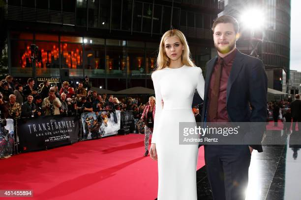 Nicola Peltz and Jack Reynor attend the european premiere of 'Transformers Age of Extinction' at Sony Centre on June 29 2014 in Berlin Germany