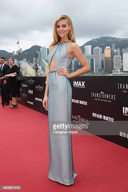 Nicola Peltz arrives at the worldwide premiere screening of 'Transformers Age of Extinction'at the on June 19 2014 in Hong Kong Hong Kong