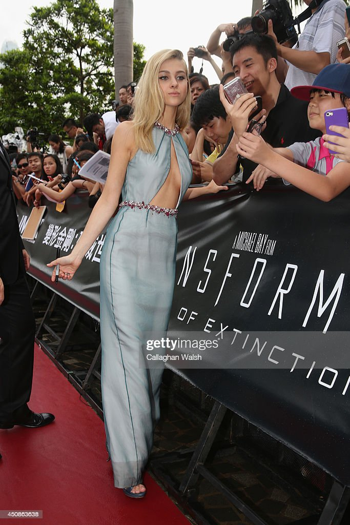 Nicola Peltz arrives at the worldwide premiere screening of 'Transformers: Age of Extinction'at the on June 19, 2014 in Hong Kong, Hong Kong.