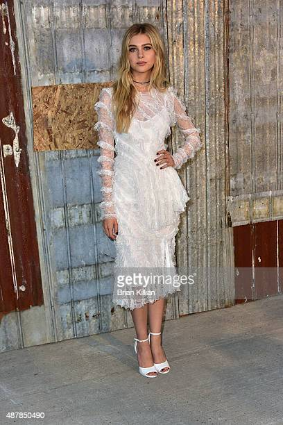 Nicola Peltz attends the Givenchy show during Spring 2016 New York Fashion Week at Pier 26 on September 11 2015 in New York City
