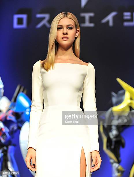Nicola Peltz attends the press conference for Japan premiere of 'Transformers Age Of Extinction' at Tokyo Midtown on July 29 2014 in Tokyo Japan