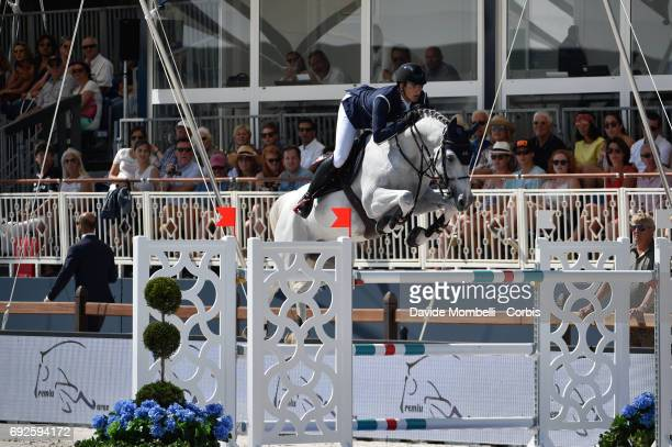 Nicola Philippaerts of Belgium riding HM Zilvestar T during the Longines Grand Prix Athina Onassis Horse Show on June 3 2017 in St Tropez France