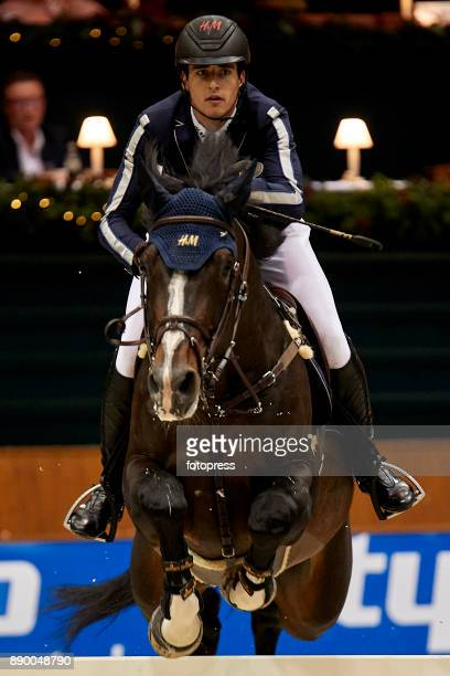 Nicola Phillippaerts attends during CSI Casas Novas Horse Jumping Competition on December 10 2017 in A Coruna Spain