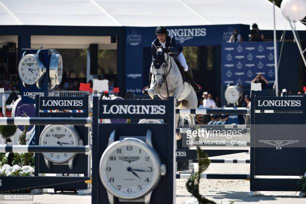 Nicola Philppaerts of Belgium riding HM Zilvestar T during the Longines Grand Prix Athina Onassis Horse Show on June 3 2017 in St Tropez France
