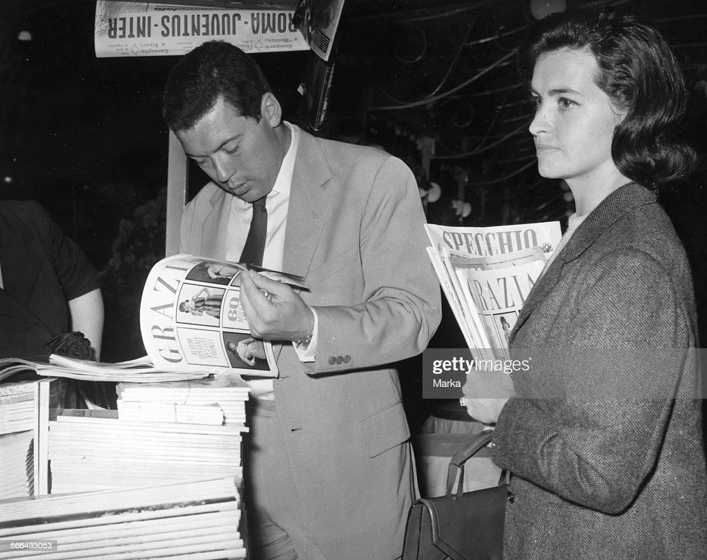 Nicola Pietrangeli With Wife Susanna 1962