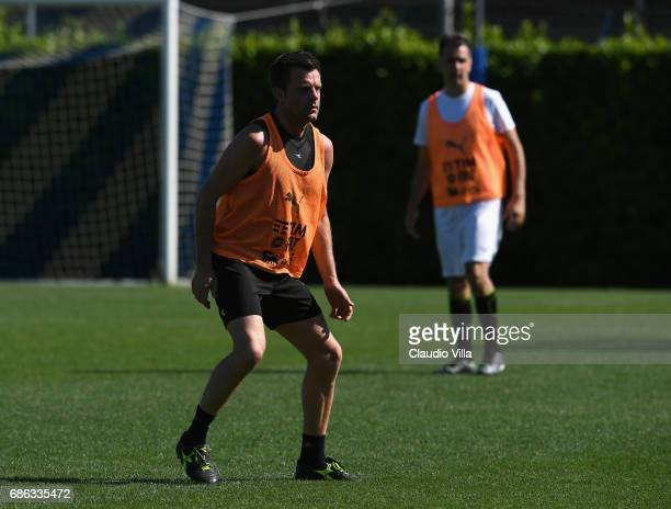 Nicola Rizzoli in action during a friendly match during the Italian Football Federation Kick Off Seminar on May 21 2017 in Florence Italy