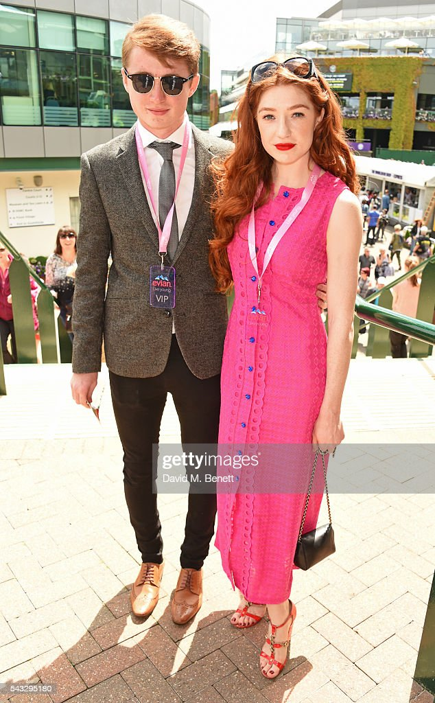 <a gi-track='captionPersonalityLinkClicked' href=/galleries/search?phrase=Nicola+Roberts&family=editorial&specificpeople=203306 ng-click='$event.stopPropagation()'>Nicola Roberts</a> (R) and brother Harrison Roberts attend the evian Live Young suite during Wimbledon 2016 at the All England Tennis and Croquet Club on June 27, 2016 in London, England.