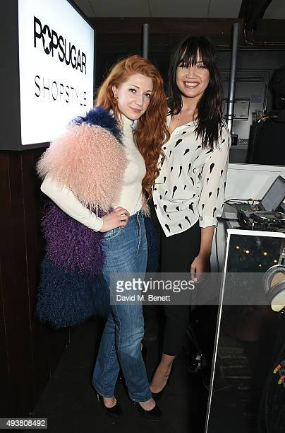 Nicola Roberts and Daisy Lowe attend the POPSUGAR ShopStyle UK party on October 22 2015 in London England