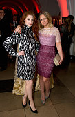Nicola Roberts and Kimberley Walsh attend a fundraising event in aid of the Nepal Youth Foundation at Banqueting House on October 1 2015 in London...
