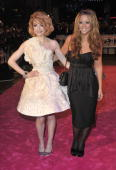 Nicola Roberts and Kimberley Walsh attend the World Premiere of St Trinian's 2 The Legend of Fritton's Gold at Empire Leicester Square on December 9...