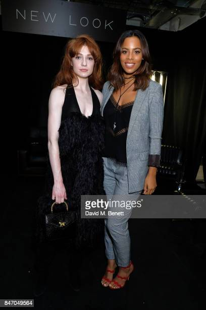 Nicola Roberts and Rochelle Humes attend the exclusive New Look and British Fashion Council party launching London Fashion Week September 2017 at The...