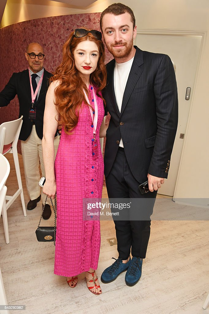 <a gi-track='captionPersonalityLinkClicked' href=/galleries/search?phrase=Nicola+Roberts&family=editorial&specificpeople=203306 ng-click='$event.stopPropagation()'>Nicola Roberts</a> (L) and Sam Smith attend the evian Live Young suite during Wimbledon 2016 at the All England Tennis and Croquet Club on June 27, 2016 in London, England.