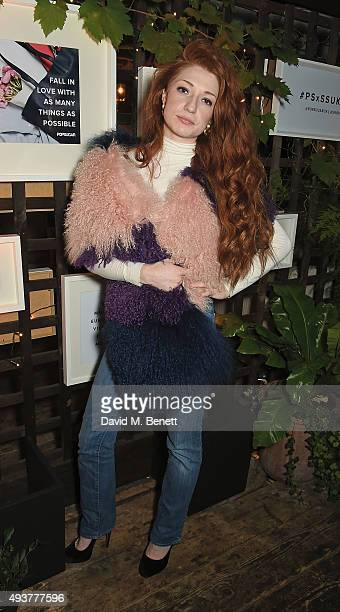 Nicola Roberts attend the POPSUGAR ShopStyle UK party on October 22 2015 in London England