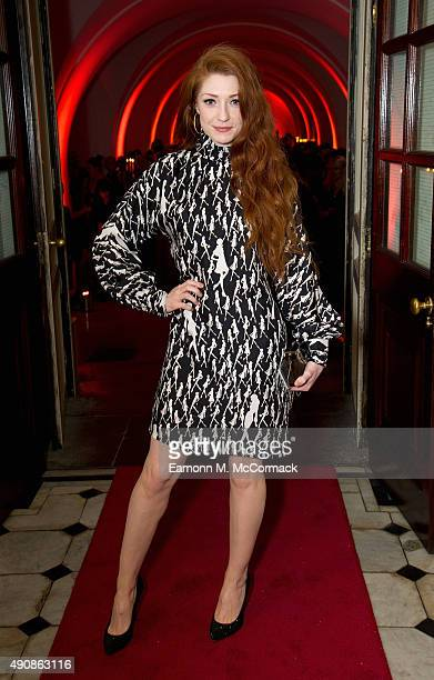 Nicola Roberts attends a fundraising event in aid of the Nepal Youth Foundation at Banqueting House on October 1 2015 in London England