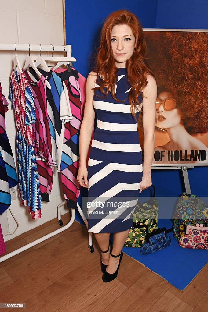 <a gi-track='captionPersonalityLinkClicked' href=/galleries/search?phrase=Nicola+Roberts&family=editorial&specificpeople=203306 ng-click='$event.stopPropagation()'>Nicola Roberts</a> attends a private dinner to showcase the House Of Holland Resort 16 collection at the House Of Holland studios on July 16, 2015 in London, England.