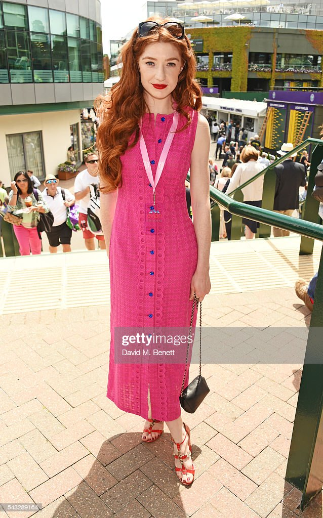 <a gi-track='captionPersonalityLinkClicked' href=/galleries/search?phrase=Nicola+Roberts&family=editorial&specificpeople=203306 ng-click='$event.stopPropagation()'>Nicola Roberts</a> attends the evian Live Young suite during Wimbledon 2016 at the All England Tennis and Croquet Club on June 27, 2016 in London, England.