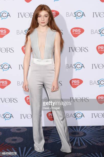 Nicola Roberts attends the Ivor Novello Awards at Grosvenor House on May 18 2017 in London England