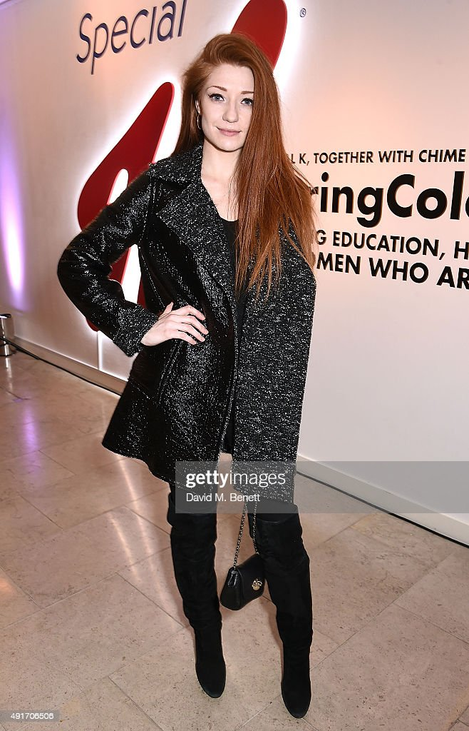 <a gi-track='captionPersonalityLinkClicked' href=/galleries/search?phrase=Nicola+Roberts&family=editorial&specificpeople=203306 ng-click='$event.stopPropagation()'>Nicola Roberts</a> attends the Special K Bring Colour Back launch at The Hospital Club on October 7, 2015 in London, England.