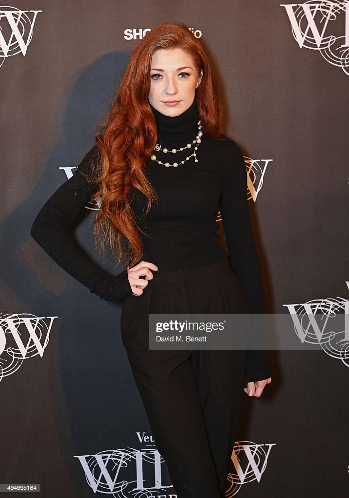 <a gi-track='captionPersonalityLinkClicked' href=/galleries/search?phrase=Nicola+Roberts&family=editorial&specificpeople=203306 ng-click='$event.stopPropagation()'>Nicola Roberts</a> attends the Veuve Clicquot Widow Series 'A Beautiful Darkness' curated by Nick Knight and SHOWstudio on October 28, 2015 in London, England.