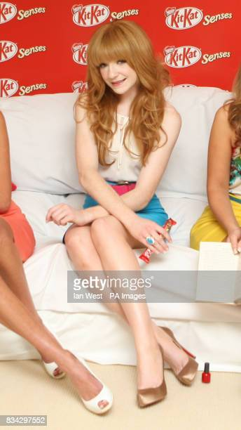 Nicola Roberts from Girls Aloud launches the new 'KitKat Senses' bar at the Soho Hotel in central London