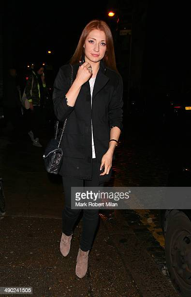 Nicola Roberts leaving Shoreditch House on May 13 2014 in London England