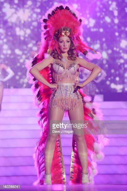 Nicola Roberts of Girls Aloud perform on stage on the first night of their 'Girls Aloud The Hits Tour 2013' tour at the Metro Radio Arena on February...