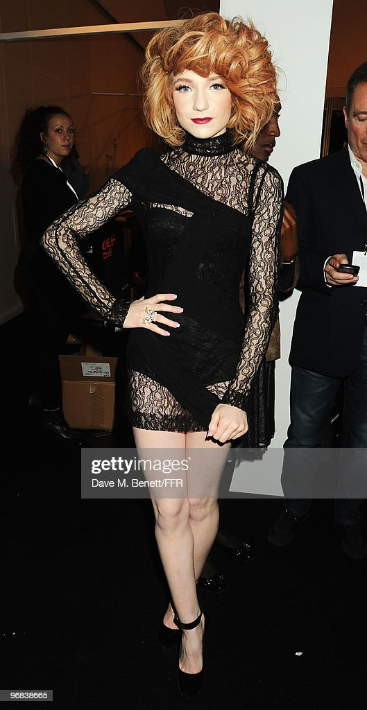 <a gi-track='captionPersonalityLinkClicked' href=/galleries/search?phrase=Nicola+Roberts&family=editorial&specificpeople=203306 ng-click='$event.stopPropagation()'>Nicola Roberts</a> poses backstage during Naomi Campbell's Fashion For Relief Haiti London 2010 Fashion Show at Somerset House on February 18, 2010 in London, England.