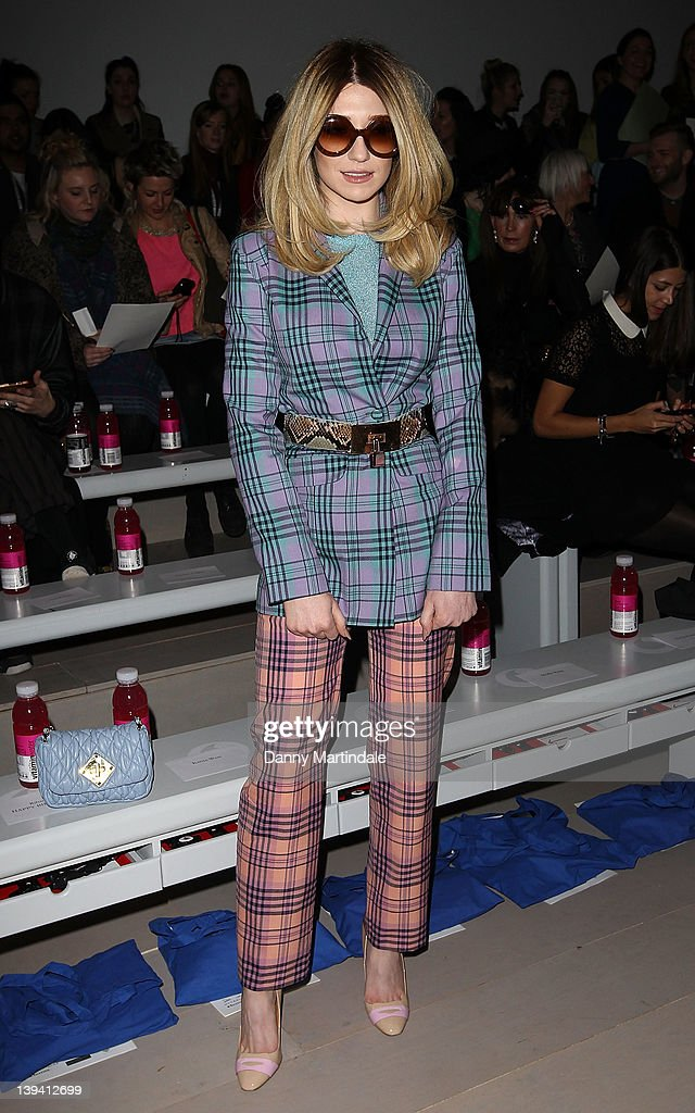 Nicola Roberts seen on the front row at the Mark Fast Autumn/Winter 2012 show at London Fashion Week at Somerset House on February 20 2012 in London...