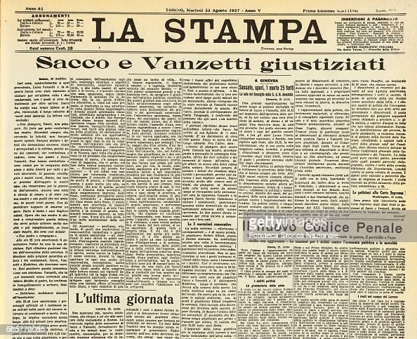 Nicola Sacco (1891-1927) And Bartolomeo Vanzetti (1888