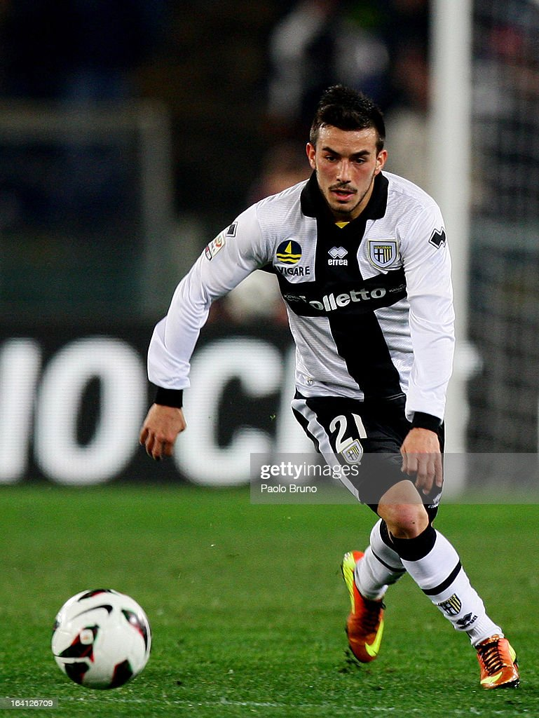 Nicola Sansone of Parma FC in action during the Serie A match between AS Roma and Parma FC at Stadio Olimpico on March 17, 2013 in Rome, Italy.
