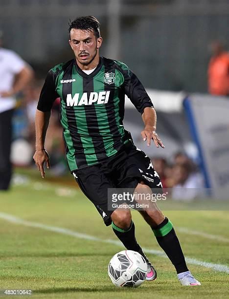 Nicola Sansone of Sassuolo in action during the preseason friendly match between Pescara Calcio and US Sassuolo Calcio at Adriatico Stadium on August...
