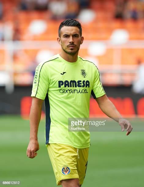 Nicola Sansone of Villarreal CF prior their La Liga match between Valencia CF and Villarreal CF at the Mestalla Stadium on 21th May 2017 in Valencia...