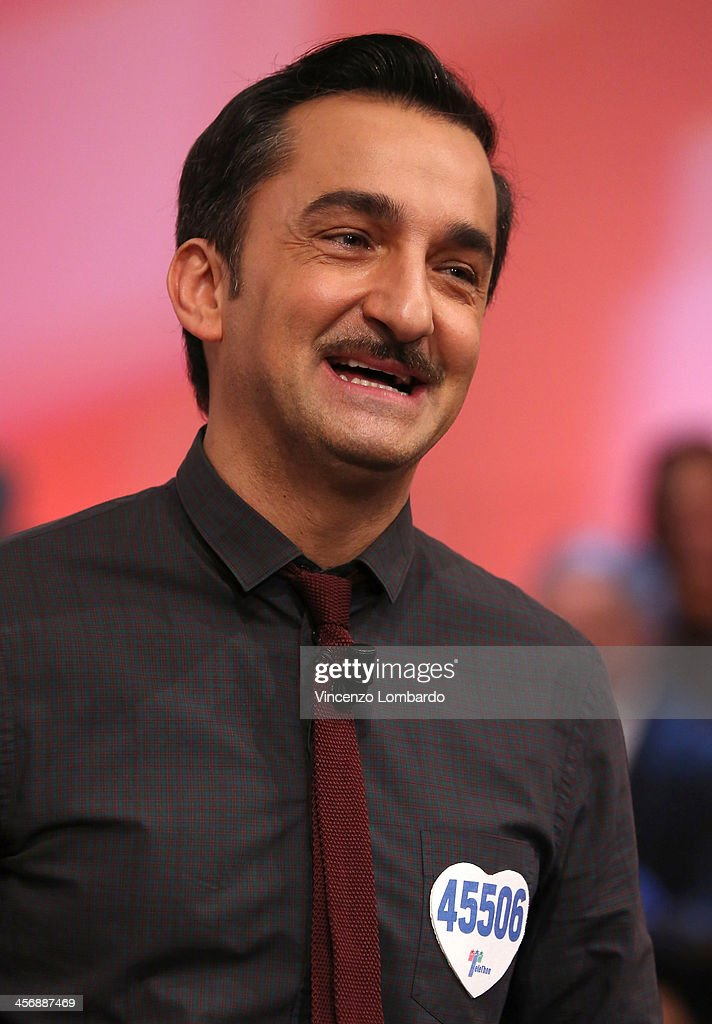 Nicola Savino appears on Italian tv show 'Quelli Che Il Calcio' on December 15, 2013 in Milan, Italy.