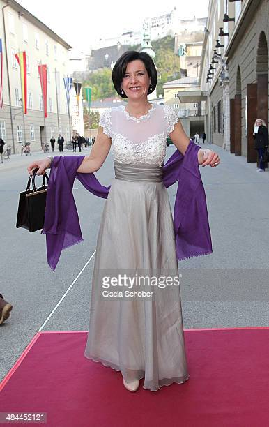 Nicola Schnelldorfer attends the opening of the easter festival 2014 on April 12 2014 in Salzburg Austria