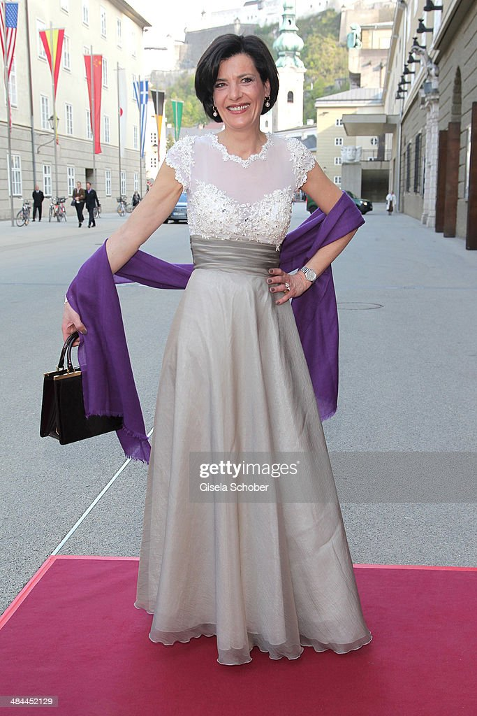 Erika Suess) attends the opening of the easter festival 2014 (Osterfestspiele) on April 12, 2014 in Salzburg, Austria.